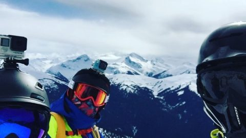 #MV #mountain selfie in #whistlerblackcomb #canada – standard. Next stop: Irish bar fire pit! 🙌🏻