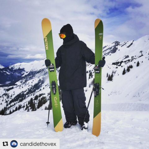 Check the width of these badboys. @factionskis are favourites of #freeskier @candidethovex – nice!