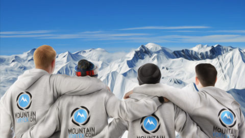 The #MountainVortex crew stare across the mountain tops as we prepare to travel from #England to #Canada on saturday and hit #whistlerblackcomb